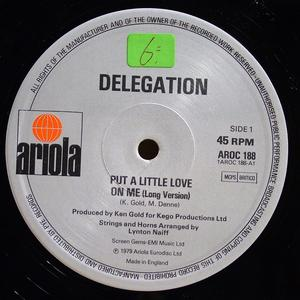 Single Cover Delegation - Put A Little Love On Me