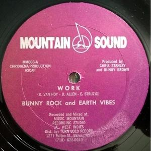 Single Cover Bunny Rock And Earth Vibes - Work