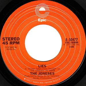 Single Cover The - Lies Joneses