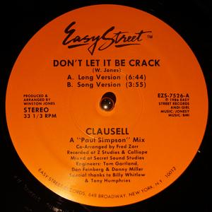 Single Cover Clausell - Don't Let It Be Crack