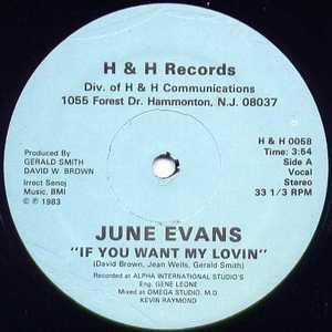 Single Cover June - If You Want My Lovin' Evans