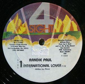 Single Cover Randie - International Lover Paul