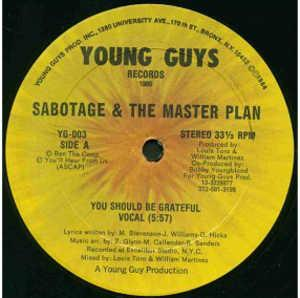Single Cover Sabotage And The Master Plan - You Should Be Greateful
