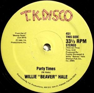 Single Cover Willie 'beaver' - Party Times Hale
