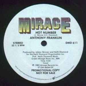 Single Cover Anthony - Hot Number Franklin