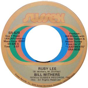 Single Cover Bill - Ruby Lee Withers
