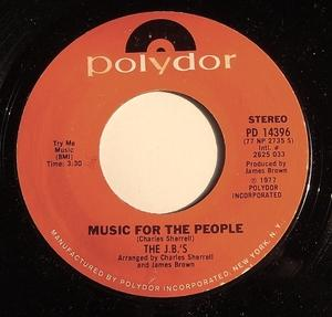 Single Cover The - Music For The People J. B.'s