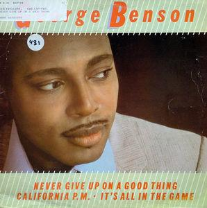 Single Cover George - Never Give Up On A Good Thing Benson