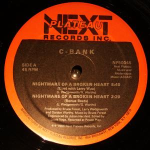 Single Cover C-bank - Nightmare Of A Broken Heart