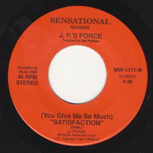 Single Cover J.p.'s Force - (you Give Me So Much)