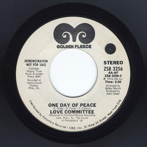 Single Cover Love Committee - One Day Of Peace