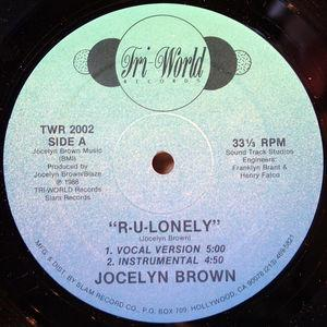 Single Cover Jocelyn - R-u-lonely Brown