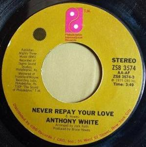Single Cover Anthony - Never Repay Your Love White