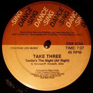 Single Cover Take Three - Tonite's The Night