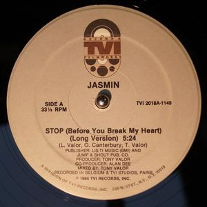 Single Cover Jasmin - Stop (before You Break My Heart)
