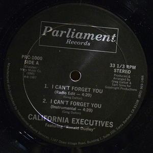 Single Cover California Executives - I Can't Forget You