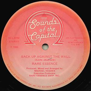 Single Cover Rare Essence - Back Up Against The Wall