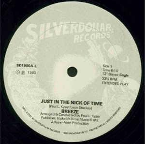 Single Cover Breeze - Just In The Nick Of Time