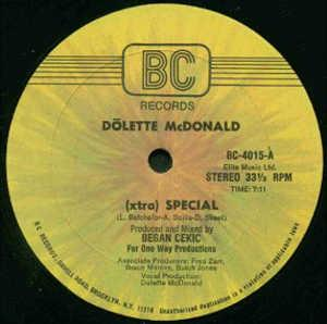 Single Cover Dõlette - (xtra) Special Mcdonald