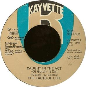 Single Cover Facts Of Life - Caught In The Act (of Gettin' It On)