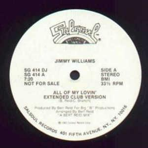Single Cover Jimmy - All Of My Lovin' Williams