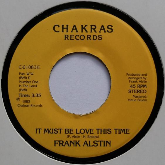 Single Cover Frank - It Must Be Love This Time Alstin