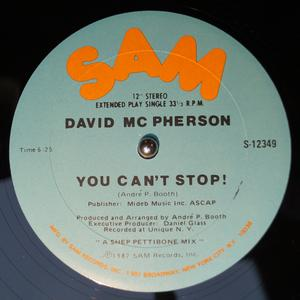 Single Cover David - You Can't Stop! Mcpherson