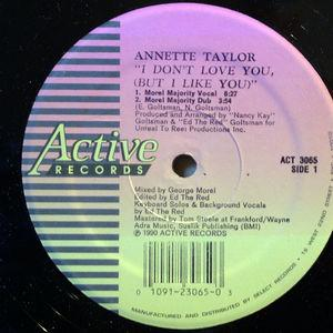 Single Cover Annette - I Don't Love You Taylor
