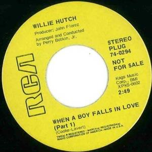 Single Cover Willie - When A Boy Falls In Love Hutch