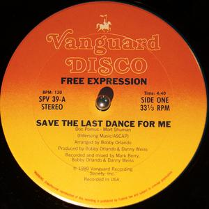 Single Cover Free Expression - Save The Last Dance For Me