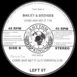 Single Cover Bailey & Bridges - Come And Get It