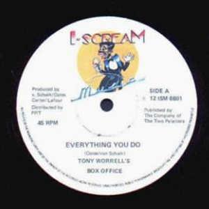 Single Cover Tony Worrell's Box Office - Everything You Do