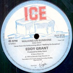 Single Cover Eddy - Walking On Sunshine Grant