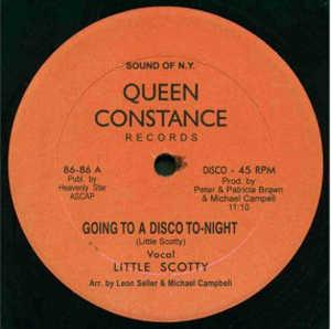 Single Cover Little Scotty - Going To A Disco To-night