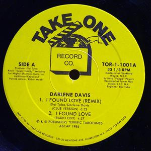 Single Cover Darlene - I Found Love Davis