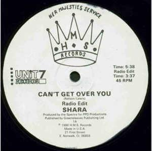 Single Cover Shara - Can't Get Over You
