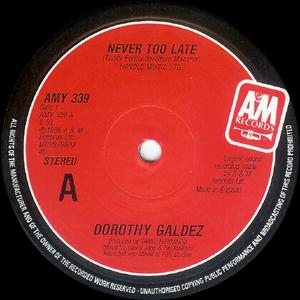 Single Cover Dorothy - Never Too Late Galdez