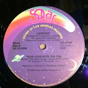 Single Cover Lakeside - Your Love Is On The One