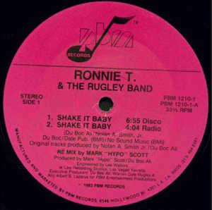 Single Cover Ronnie T. & The Rugley Band - Shake It Baby