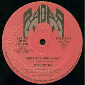 Single Cover Steve - Stop Playing With My Love Drayton