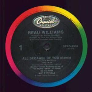 Single Cover Beau - All Because Of You Williams