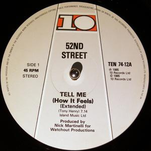 Single Cover 52nd Street - Tell Me (how It Feels)