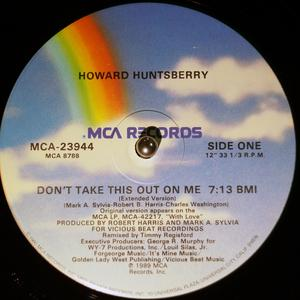 Single Cover Howard - Don't Take This Out On Me Huntsberry