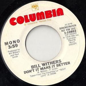 Single Cover Bill - Don't Make It Better Withers