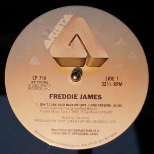 Single Cover Freddie - Don't Turn Your Back On Love James