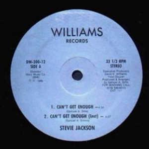 Single Cover Stevie - Can't Get Enough Jackson