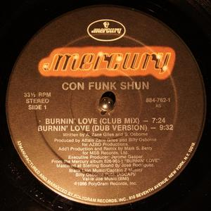 Single Cover Con Funk Shun - Burnin' Love