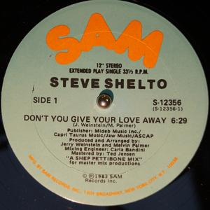 Single Cover Steve - Don't You Give Your Love Away Shelto