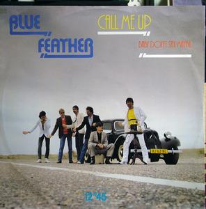 Single Cover Blue Feather - Call Me Up