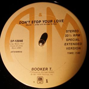 Single Cover Booker T. Jones And The Mgs - Don't Stop Your Love